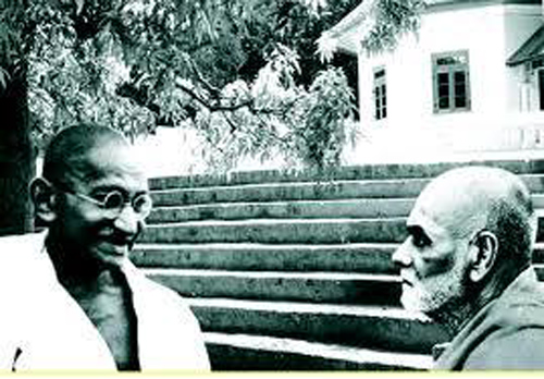 Narayana Guru With Gandhiji