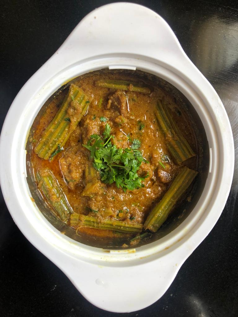 Drumstick mutton curry