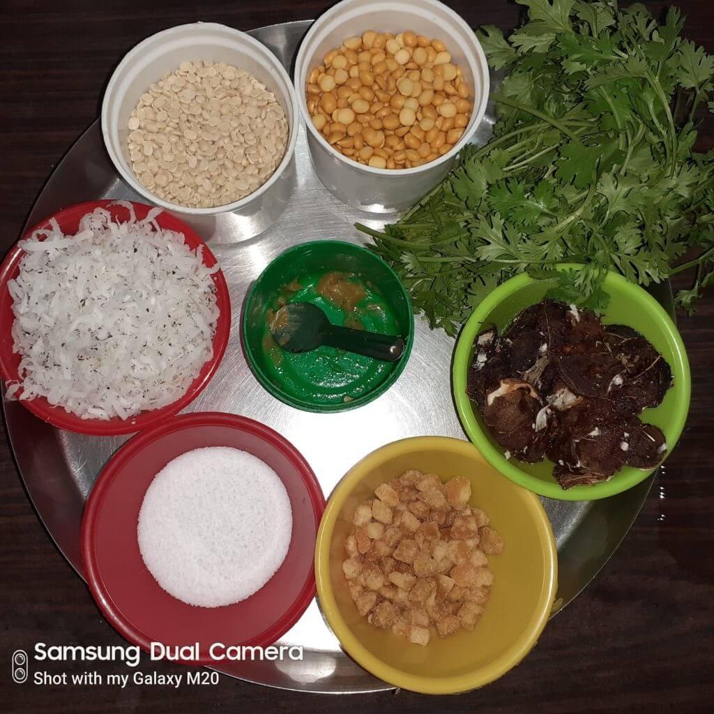 Ingredients for Chutney Pudi