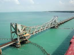 The famous Pamban Bridge