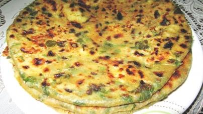 Mint Paratha (Pudine ka paratha)-Punjabi cuisine