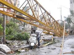 Electrical Poles damaged
