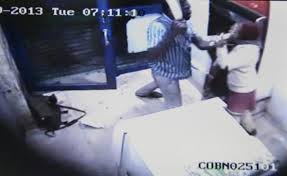 ATM User being attacked