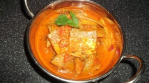 Dry fish curry