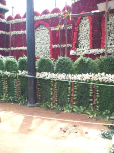 Red Fort built in Flowers