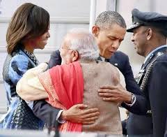 A hearty welcome to Obama from Modi