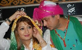 Sunanda and Shashi Tharoor during happy times
