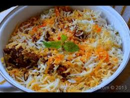 The very famous Hyderabadi biriyaani
