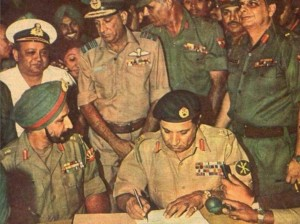Surrender by pak army