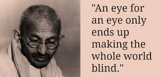 Gandhiji advocated Ahimsa