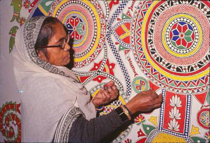Ganga Devi at work