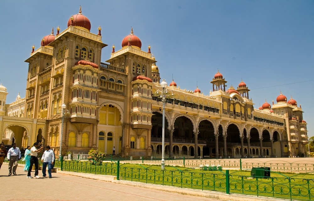 The grand and mystic Mysore Palace in Mysore