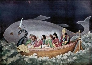 Matsya escorting Manu