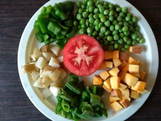 Vegetables for Bisibele Bath