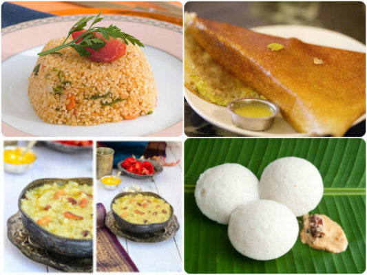 Karnataka Breakfast dishes