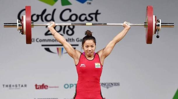 Saikhom Mirabai Chanu at Commonwealth Games, 2018