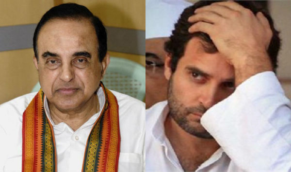 Subramanya Swamy Targets Rahul Gandhi