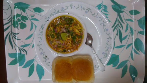 serving of misal pav