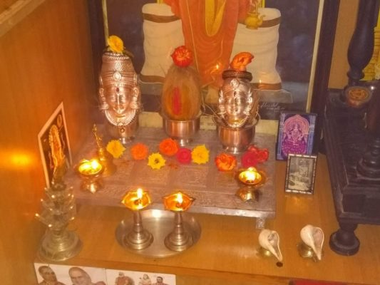 Lakshmi Pooja at home