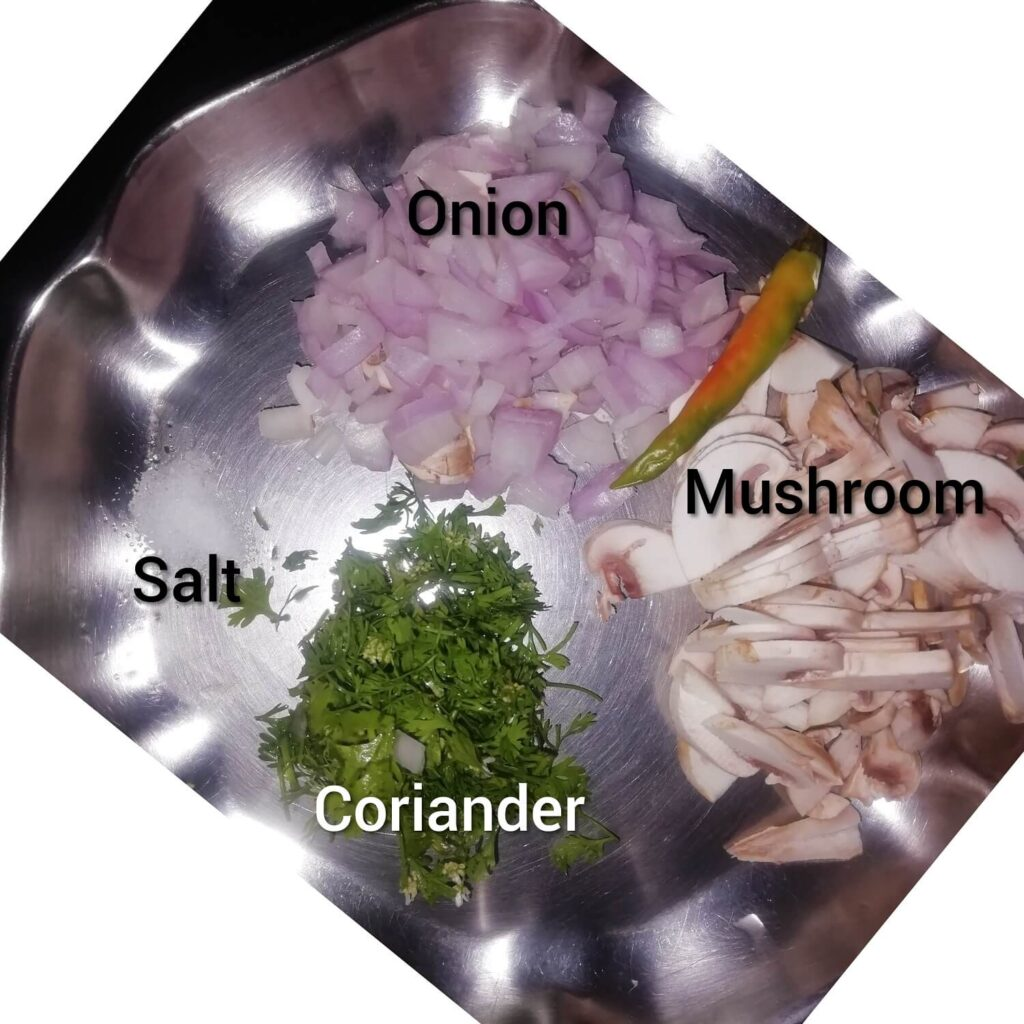 Ingredients for Mushroom Idli