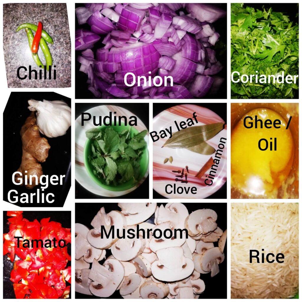 Mushroom Palau Ingredients