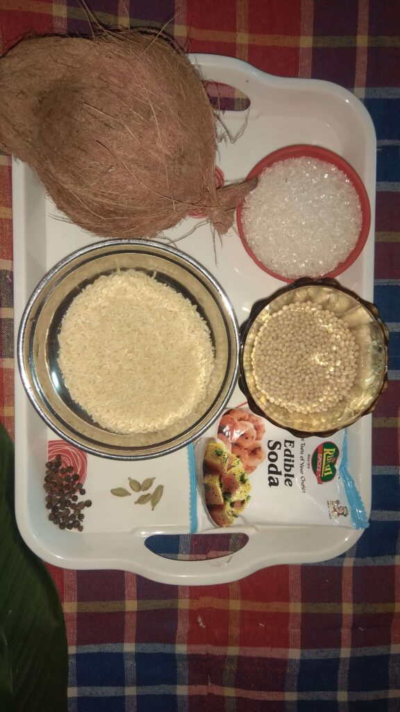 Ingredients for Haldi Patra Pitha